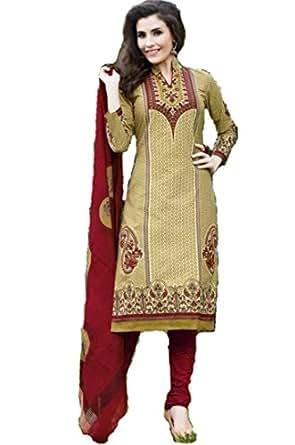 Unique Apparels Women's Cotton Printed Unstiched Dress Material