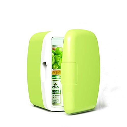 Peaceip 6L 12V DC 220V AC réfrigération Chauffage réfrigérateur Réfrigérateur Mini petite maison mini voiture double usage réfrigérateur Dimensions extérieures: 24 * 21.5 * 30.5cm, Dimensions internes: 14 * 15.5 * 26.5cm, ( Color : Vert )