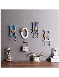 Beauqueen Estilo rural decoración de la pared Carta Woody Hook Up Inicio tienda de ropa en las decoraciones murales...