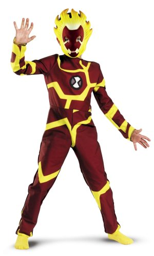 Ben 10 Heatblast-Kostüm, 5-7 (Ben 10 Kinder Kostüm)