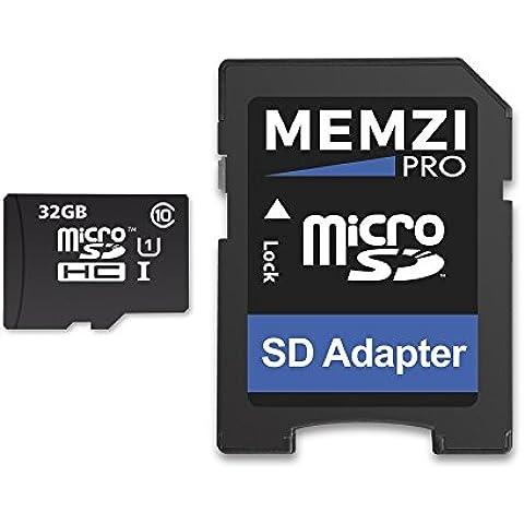 Memzi Pro 32GB clase 1090Mb/s tarjeta de memoria Micro SDHC con adaptador SD para Binatone Dash Cam de coche cámaras o navegadores GPS Dash Cam con incorporados, la