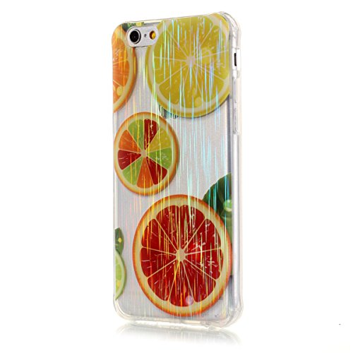 iPhone 6S Plus Coque, iPhone 6 Plus Coque, Lifeturt [ Pie ] Housse Anti-dérapante Absorbant Chocs Protection Etui Silicone Gel TPU Bumper Case pour iPhone 6s Plus / 6 Plus E02-Orange