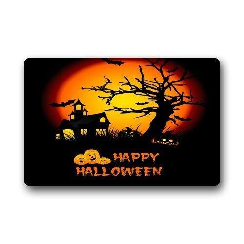 LNYACHI Scott Shop Custom Happy Halloween Doormat 23.6