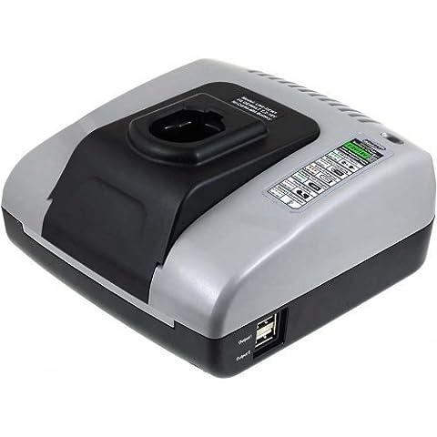 Chargeur pour batterie Powery avec USB pour power tool Black & Decker battery type FIRESTORM A9277