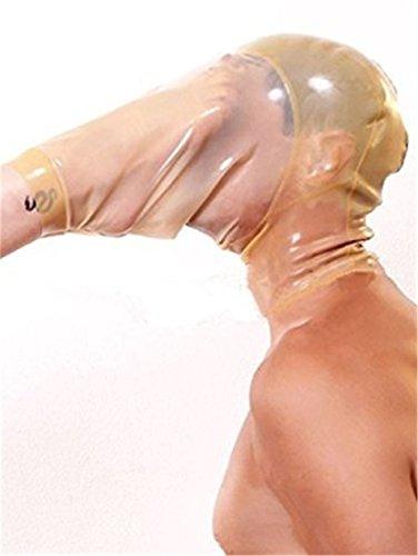 100% Naturlatex Maske Gummi Essen SM Fetisch Volle Bondage Maske -