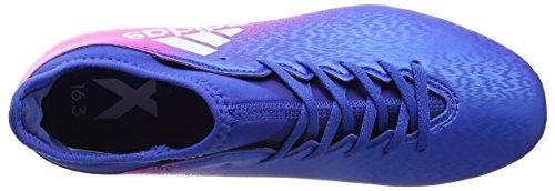 adidas Unisex-Kinder X 16.3 Fg Fußballschuhe Blau (Blue/ftwr White/shock Pink)