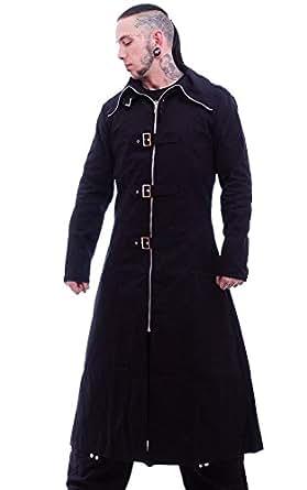 Necessary Evil Mens Highwayman Full Length Coat - Extra Small