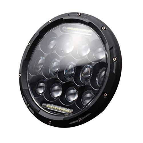 Cikuso Lampada da 7 Pollici con Fari A LED Rotondi con Drl per Jeep Wrangler JK JKU TJ CJ LJ