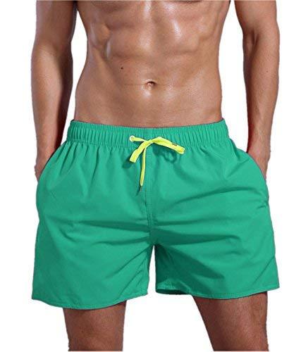 QRANSS Men's Swim Trunks Beach Surf Shorts