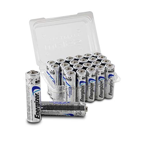 Energizer L91 Ultimate Lithium AA/LR06/EN91/Mignon Batterien, Vorratsbox, More Power, 24er-Set inklusive Batterieboxen Weiß Aa-energizer Batterien