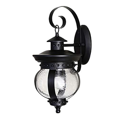 Luminaires & Eclairage / Luminaires intérieur / Ap Lampe murale simple tête extérieure rétro lampe murale simple lampe murale lampe balcon extérieur lampe mur extérieur jardin lampe de verre A+