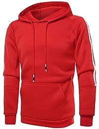ITISME Herren Pullover Herren Herbst Winter Reine Farbe Langarm Freizeit Sweatshirt Outwear Bluse