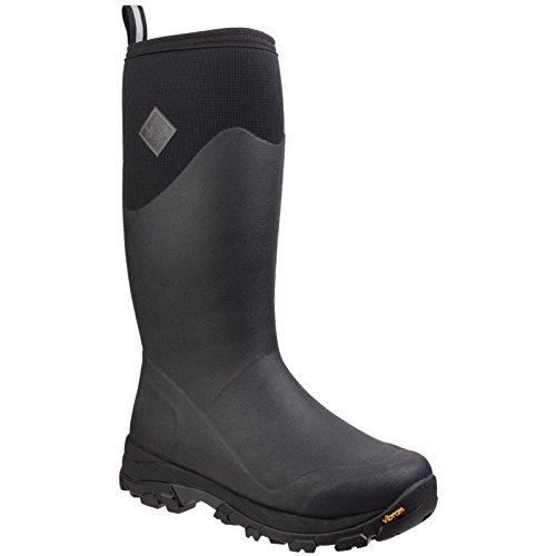 Muck Boots Mens Arctic Ice Tall Extreme Conditions Gummistiefel. (47 EU) (Schwarz/Dunkeler Schatten) (Tall Winter Boots Für Männer)