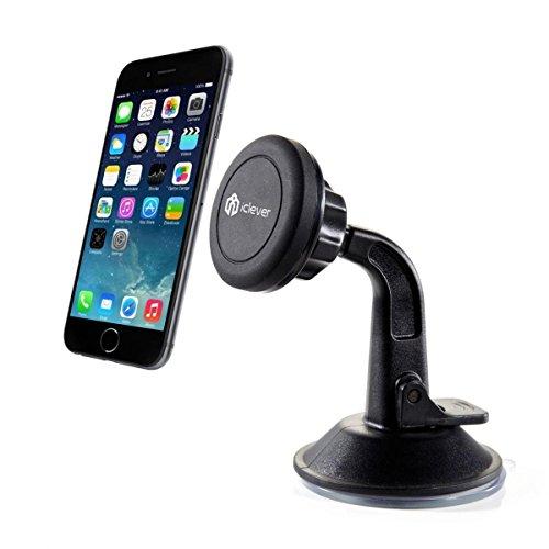Supporto telefonico, supporto iClever del supporto per auto del supporto dell'automobile Supporto universale della parabrezza del caricatore dell'automobile nero
