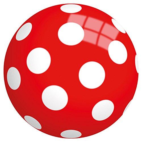 unktball, Motiv, Durchmesser, 9 Zoll, 23 cm aus Vinyl, rot/weiß (Rote Und Weiße Beach-ball)