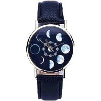 DDLBiz® Donne Eclipse modello Leather analogici al quarzo Orologi da polso (nero)