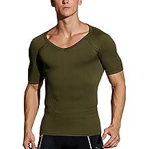 Crazy bigsave. Hoter® para Hombre Cuerpo de adelgazamiento Shaper chaleco/camisa ABS Abdomen Delgado, Precio/pieza (1# más vendido que adelgaza marca nos en Amazon.), hombre, Z-Army Green(T-shirt), S