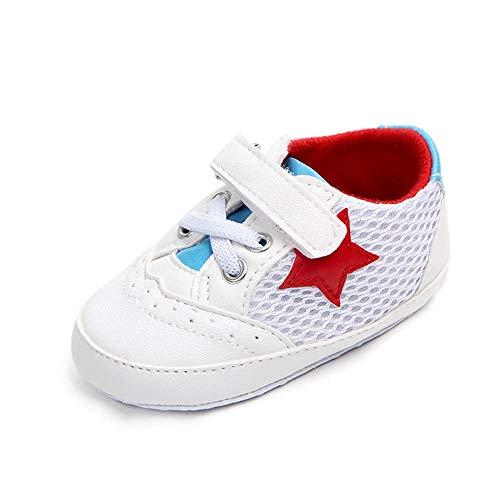 KonJin Unisex Babyschuhe Kinder Baby Solid Star Mesh Anti-Rutsch-Soft Freizeitschuhe Sneaker Blinkschuhe Low-Top Casual Outdoor Sneakers Laufschuhe Sportschuhe Hallenschuhe für Jungen und Mädchen