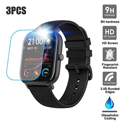 Uhrengehäuse, Webla Uhrengehäuse 3PC Hartglas Displayschutzfolie mit transparenter Folie Smartwatch für AMAZFIT GTS, Glas -