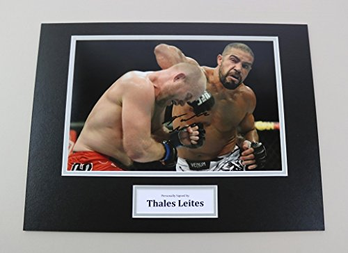 thales-leites-signed-16x12-photo-autograph-display-ufc-mma-memorabilia-coa