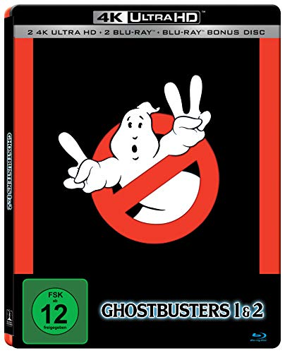 Ghostbusters & Ghostbusters 2 5 Disc Set SteelBook Edition (2 x UHD, 3 x Blu-ray)