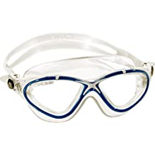 Cressi Saturn Crystal Anti Fog Premium Silicone Swimming Goggles - Mask (Made in Italy), Clear/Blue White by Cressi