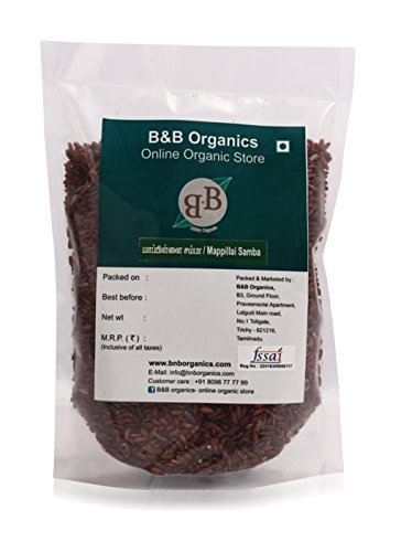B&B Organics Red Rice (Mappillai Samba – Hand Pounded), 1 kg