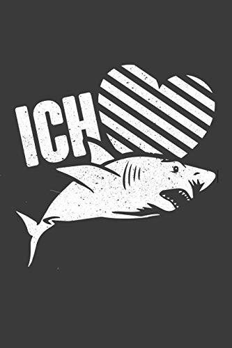 Kostüm Fan Aufblasbares - Ich liebe Hai-Fische: Liniertes DinA 5 Notizbuch für Animal, Tier-Fans und Tierliebhaber Wildtier Liebende Notizheft