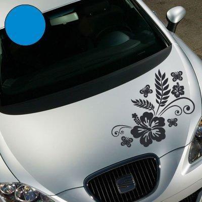 """A735 Autoaufkleber \""""Rankelement LUNA\"""" 50cm x 37cm hellblau (erh. in 49 Farben und 6 Größen)"""