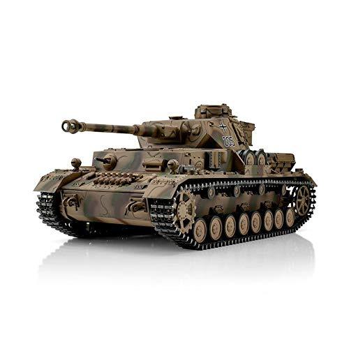 Torro 1/16 RC Panzer PzKpfw IV. AUSF. G Metall Edition Sommertarn BB