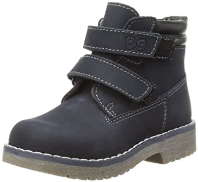 Bubblegummers Boys Double Velcro Suede Desert Boots 1169826 Blue 12 UK Child, 30 EU, Regular