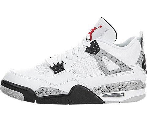 Nike Air Jordan 4 Retro OG, Zapatillas de Baloncesto para Hombre, Blanco (Blanco (White/Fire Red-Black-Tech Grey)), 43 EU