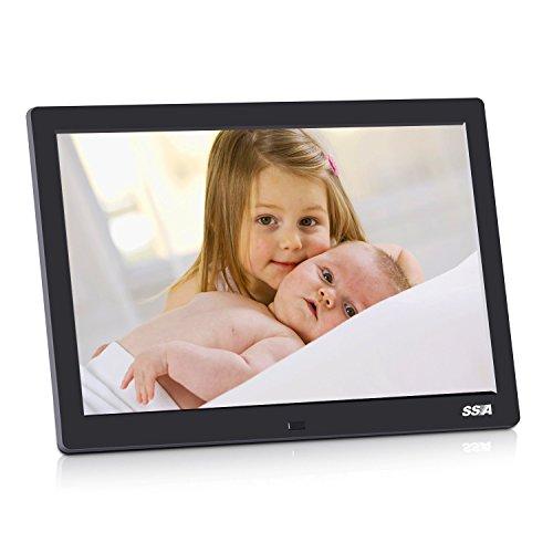 SSA Digitale Bilderrahmen Full HD 1080P mit MP3 MP4 Movie Player und Remote 1280X800 IPS Pixel HD Video (720p) VESA 100x100MM Werbe Player (IPS)