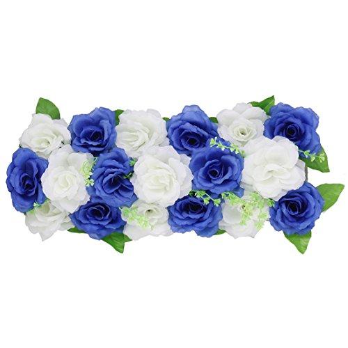it Stoff DIY Wand Bogen Hängen künstliche Blume Dekor Blau Weiß DE de ()