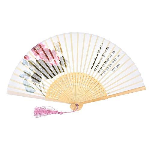 QIFUDEVS-HANDLE FAN Home Große Rave Folding Hand Fan for Männer/Frauen - Chinesisch/Japanisch Handheld Fan-für Performance, Dekorationen, Tanzen, Festival, Geschenk (Color : (Bringen Sie Ihre Toten Kostüm)