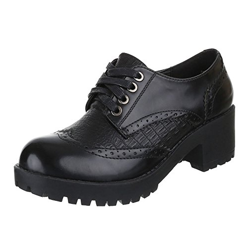 Damen Schuhe, F116, HALBSCHUHE SCHNÜRER