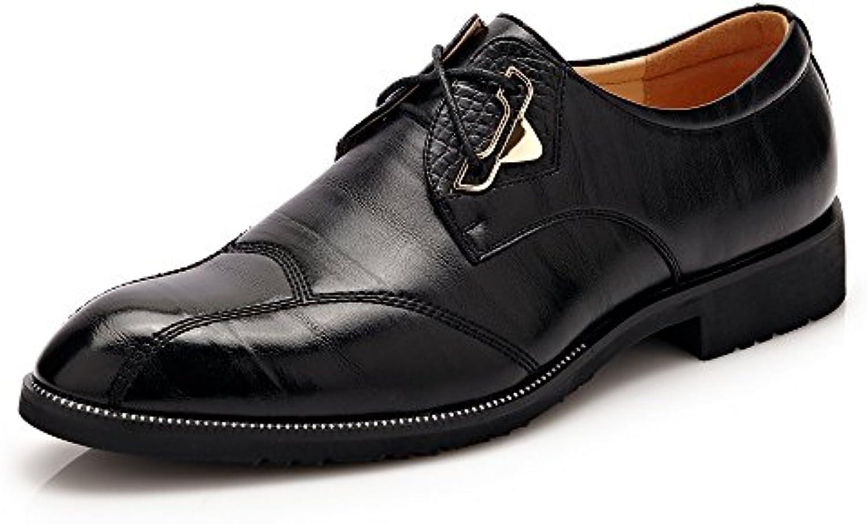 Lederschuhe Herren Lederschuhe Klassische Kleid Schuhe Split PU Leder Lace up Business Formale Oxfords Schuhe