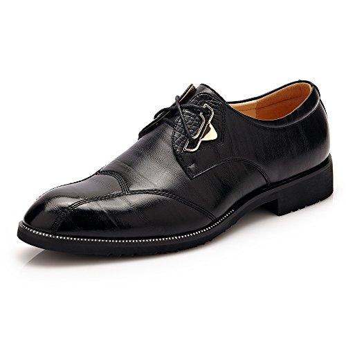 HONG YI-SHOES Herrenhalbschuhe Schuhe Herren Business Formal Oxfords Split PU Leder Lace Up Brautkleid Schuhe Strapazierfähige Oxford-Schuhe (Color : Schwarz, Größe : 38 EU) - Formale Brautkleider