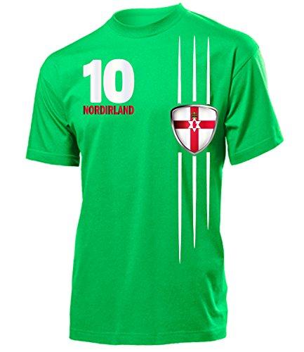 Nordirland Fanshirt Fan Shirt Tshirt Fanartikel Artikel 4744 Fussball Männer Herren T-Shirts Grün M