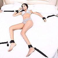 Dulexo Arnés SM Bondage sexuales Bondage Correas sujeción con cuerdas Esposas Soporte Bandas sujecion cama Sets