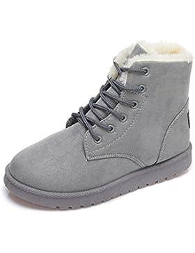 Minetom Donna Lace Up Pelliccia Neve Stivali Autunno Inverno Calzature Female Sneaker Moda