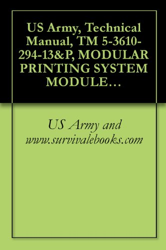 US Army, Technical Manual, TM 5-3610-294-13&P, MODULAR PRINTING SYSTEM MODULE C FINISHING SECTION (NSN 3610-01-279-5657) (THIS ITEM INCLUDED IN EM 0165) (English Edition)
