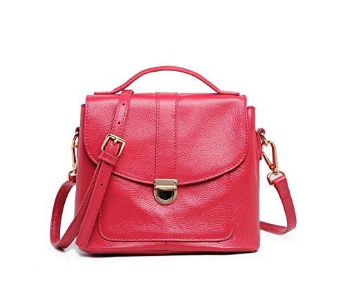 Chlln Damen - Handtasche Mode - Handtasche Crossbody Tasche Rose red