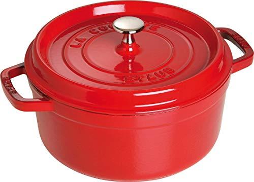 Staub cocotte casseruola, ghisa, rosso, 24 cm