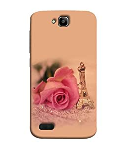 FUSON Designer Back Case Cover for Huawei Honor Holly (Multi Colour Flowers Fool Pushp)