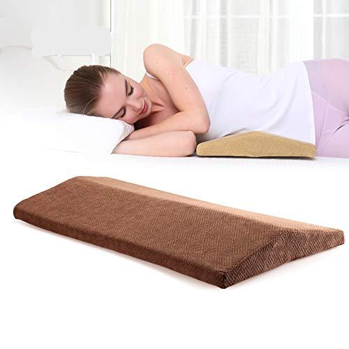 Cuscino per materasso lombare in cotone per la vita cuscino per maternità per donne e uomini in gravidanza,brown,60 * 25 * 1.5
