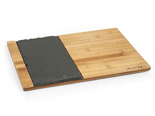 H&h alessandro borghese tagliere il lusso della semplicità, legno, marrone/nero, 30x40x1.3 cm