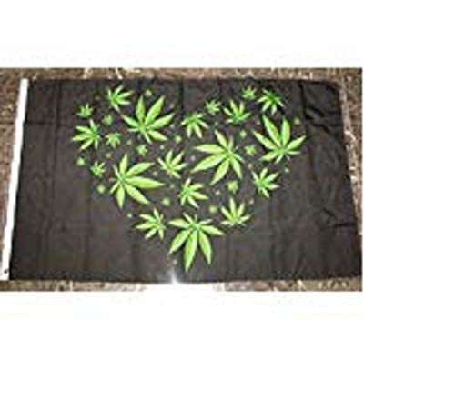 Marihuana Weed Herz Love Flagge 3'x5' Cannabis Banner
