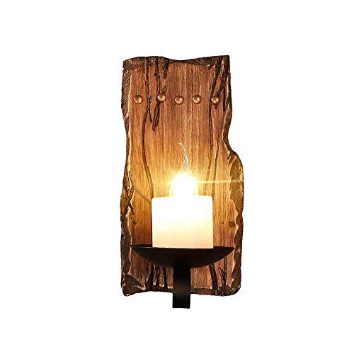 Wandleuchten aus massivem Holz, Vintage industrielle LED Marmor Kerze Dekoration Wand hängen Lampe Retro Wohnzimmer Esstisch Wandleuchte Nordic Bar Gang Beleuchtung Wandleuchte