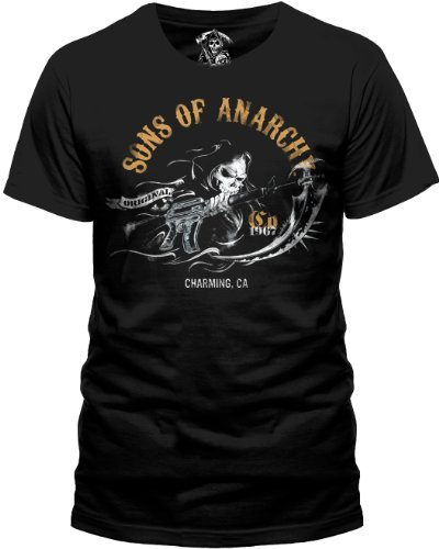 Sons of Anarchy - T-shirt Homme SONS OF ANARCHY - CHARMING - Noir (Black) - Large
